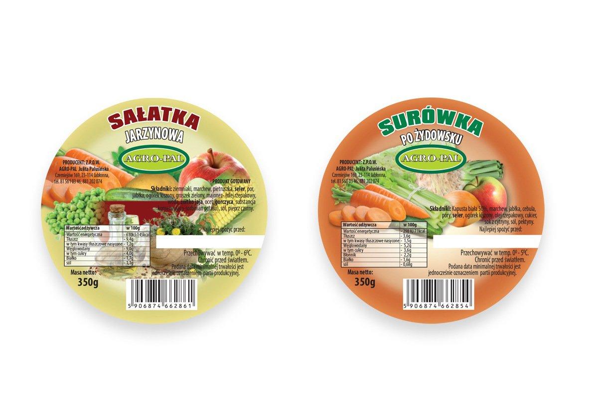 etykiety na surówki